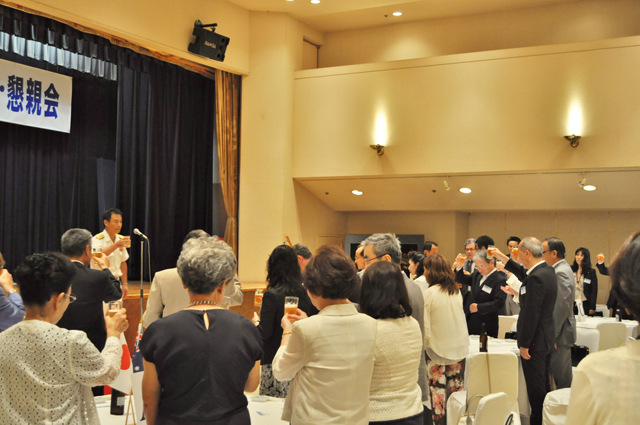 Proposed a toast by Mr. Yamashita, Cmmandant, Headquarters Sasebo Distinct, Maritime Self-Defense Force.
