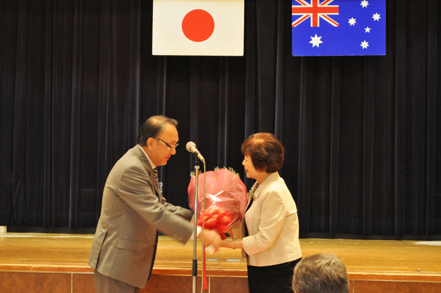 At Retirement of Administration Officer, Ms. Masako Tagawa.
